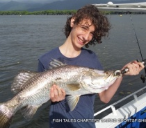 ESTUARY FISHING IN TRINITY INLET CAIRNS FOR BARRAMUNDI
