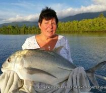 River fishing for Giant Trevally on Poppers.