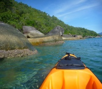 Kayaking the majestic waters of Fitzroy Island & the Great Barrier Reef!