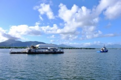 AG3 platform being towed into Cairns for it's refit.
